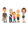 Happy family Surprised woman face and businessman vector image