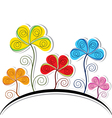 Abstract Colorful Flower Background vector image