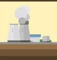 alternative energy factory source electricity vector image