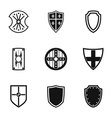 Army shield icons set simple style vector image