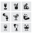beverages icon set vector image