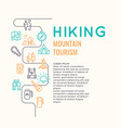 conceptual for web a hike in the vector image