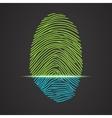 Electronic fingerprint scanner identification vector image