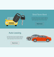 rental car and auto leasing banners vector image