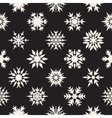Seamless Black and White Snow Flakes vector image