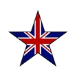 Star in Great Britain flag color isolated on white vector image