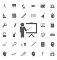 teacher icon trainer symbol modern vector image