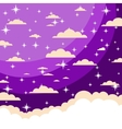 The night sky in cartoon style vector image