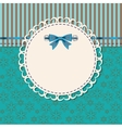 vintage frame with bow vector image