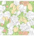 Beautiful floral vector image vector image