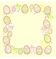 background for messages with egg yellow vector image vector image