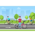 cyclists in the park Man vector image