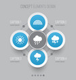 weather icons set collection of colors lightning vector image