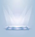 Empty illuminated podium vector image vector image