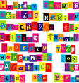 Colorful words relate with summer and holiday vector image vector image
