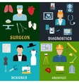Medicine design and construction professions vector image vector image