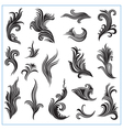 Abstract decorative plants Set 1 vector image