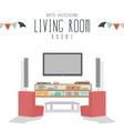 White Background Living room vector image