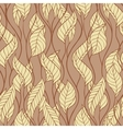 Pattern of autumn macro swirl leaves background vector image vector image