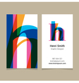 business card letter H vector image