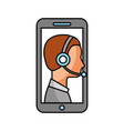 contact support customer service smartphone online vector image