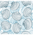 hand drawn shell background vector image