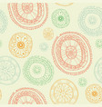 ornate snowflake seamless background vector image