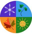 planet 4 seasons vector image