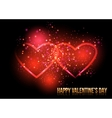 Shining valentines hearts vector image