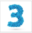 Three 3 number vector image