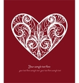 Ornamental Heart postcard vector image vector image