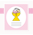 Baby girl in the holy grail vector image vector image