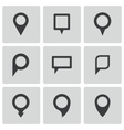 black map pointer icons set vector image