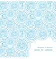 doodle circle water texture frame corner pattern vector image
