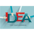 Idea concept with human hands retro style vector image vector image