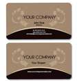 business card brown vector image vector image