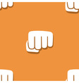 Seamless fist pattern vector image