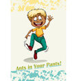 Idiom ants in your pants vector image