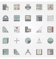 Math icons set vector image