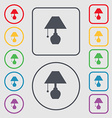 table lamp icon sign symbol on the Round and vector image