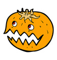 comic cartoon pumpkin vector image