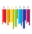 color pencil with paint flows vector image
