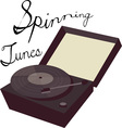 Spinning Tunes vector image