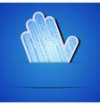Binary code Palm vector image vector image