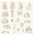 Scrapbook Design Elements - Small Town Doodles vector image vector image