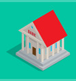 bank building in ancient style isometric icon vector image