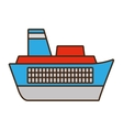 cartoon ship travel maritime vector image