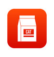 cat food bag icon digital red vector image