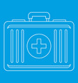 first aid icon outline style vector image