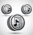 Microphone icon isolated 3d music theme design vector image